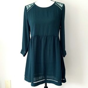 Forever 21 dark green laced dress